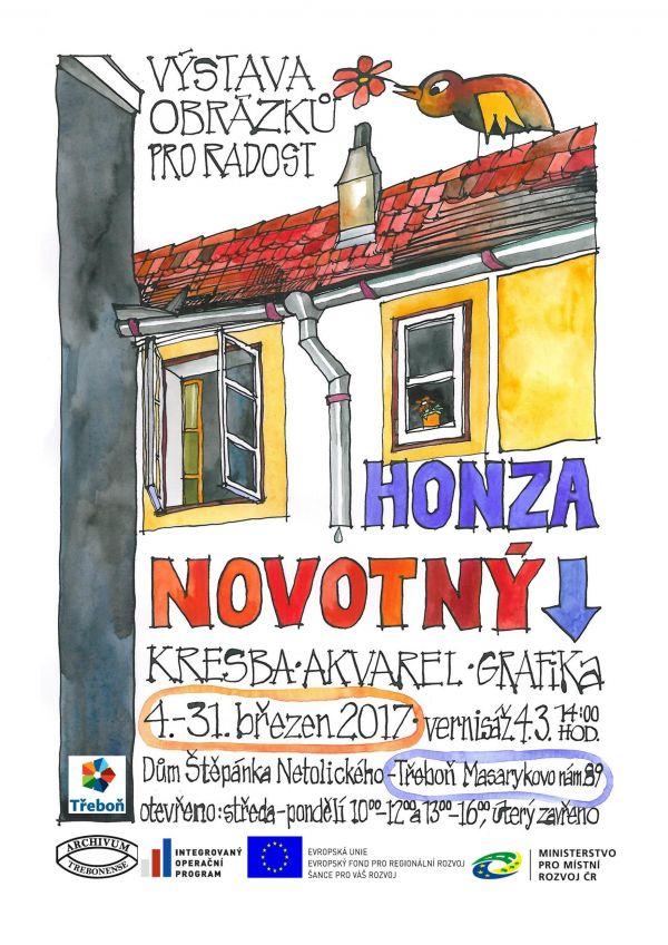 Jan Novotny Vystava Kresba Akvarel Grafika Jizni Cechy