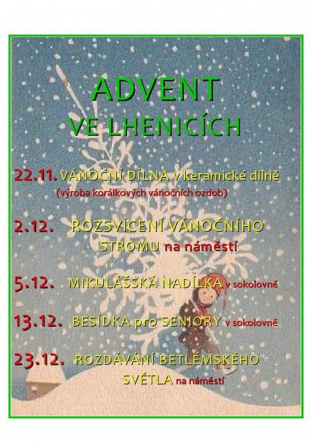 Advent ve Lhenicích