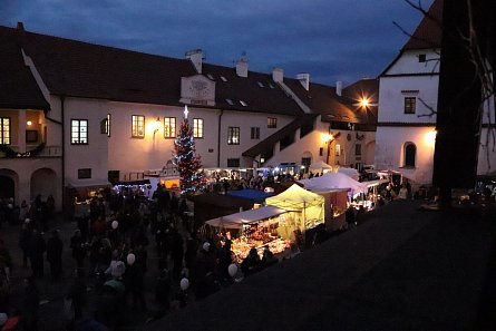 Advent market under the Rumpál Tower